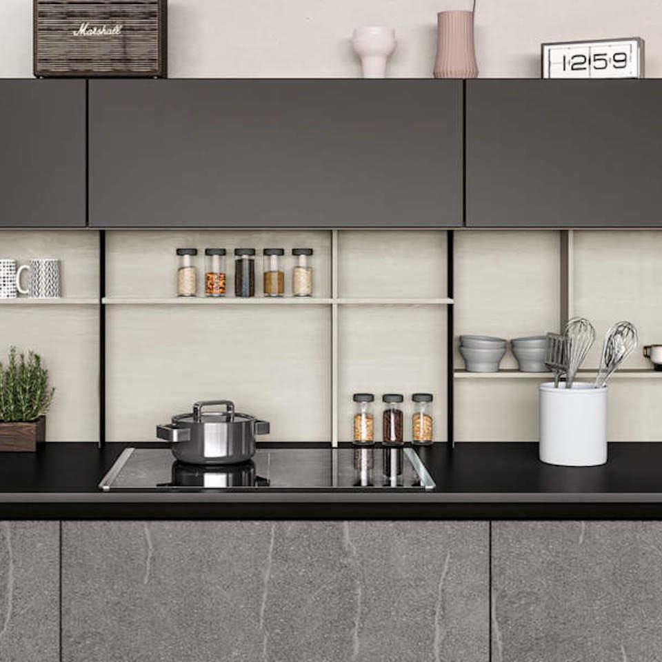 Vetreria pecci arredo cucina in vetro top cucine piani per lavello e piastre cottura in - Vetro per cucina ...